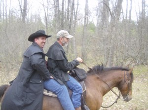 Denny doubling up on horse