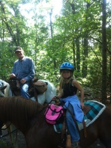 Don and Callie out riding