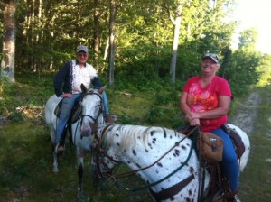 Mike and Sheila out riding