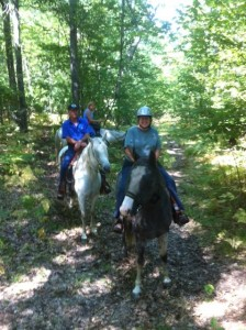 New riders on trails