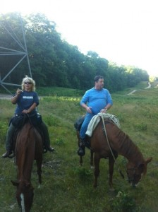 Tammy and Joey riding