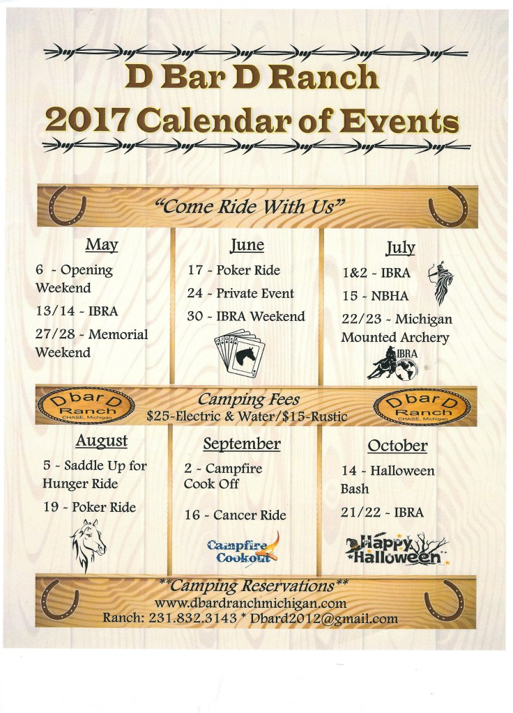 2017 schedule of events